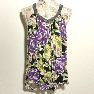 Free People Sparkly Tank Top Size M